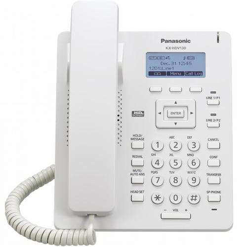Điện thoại bàn Panasonic KX-HDV130 có màn hình LCD, hỗ trợ PoE, Loa ngoài, 2 phím lập trình