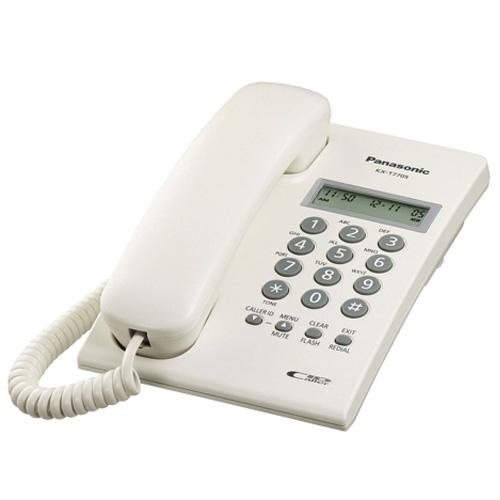 Điện thoại bàn Panasonic KX-T7703CX có màn hình hiển thị số, có thể treo tường