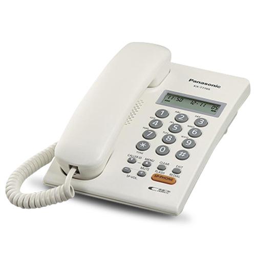 Điện thoại bàn Panasonic KX-T7705 có màn hình LCD 2 dòng, hiển thị số gọi đến