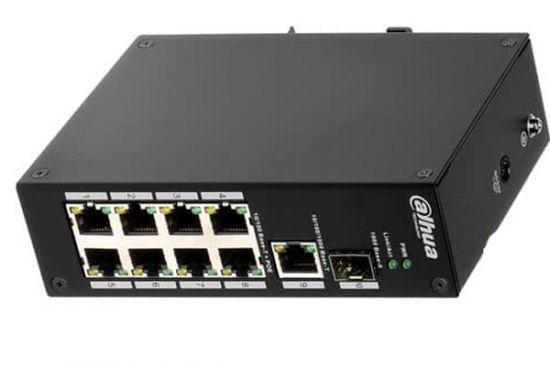 Switch PoE Dahua PFS3110-8P-96 8 Port 10/100Mbps + 2 Port, công suất 7.6Gb, chống sét 2KV