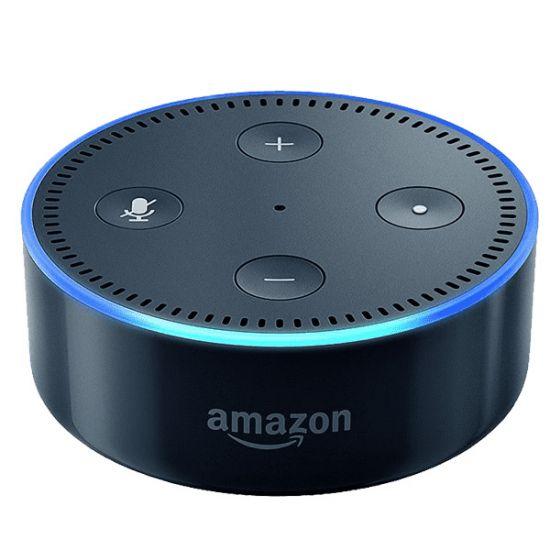 Loa Amazon Echo DoT điều khiển các thiết bị trong ngôi nhà bằng giọng nói tiếng Anh