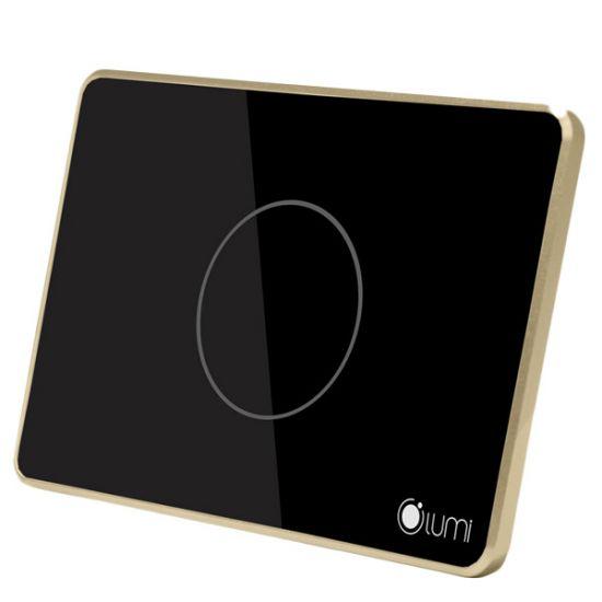 Bộ chiết áp Lumi LM-D điều khiển đèn Dimmer không dây qua điện thoại, mặt kính cường lực chống va đập