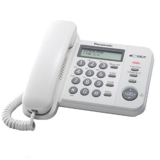 Điện thoại bàn Panasonic KX-TS560 màn hình Led hiển thị số gọi đến, khóa bàn phím bằng mật khẩu