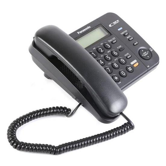 Điện thoại bàn Panasonic KX-TS580 màn hình Led hiển thị số gọi đến, khóa bàn phím bằng mật khẩu, loa 2 chiều
