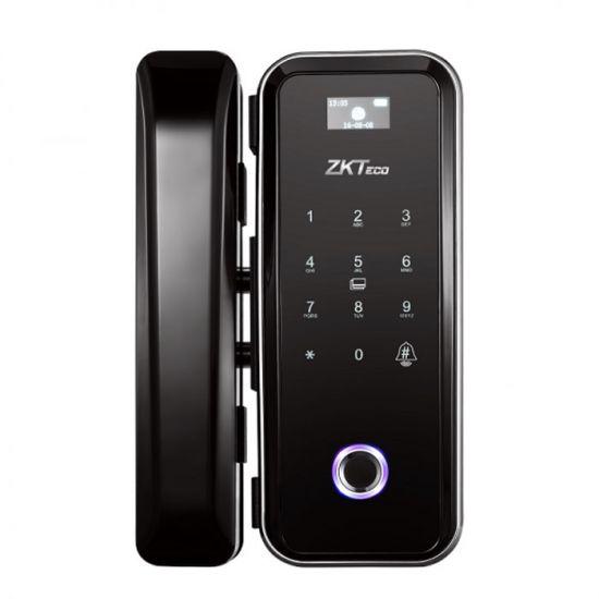Khóa cửa vân tay thông minh ZKTECO GL300 dùng cho cửa kính, mật khẩu, thẻ, có nút chuông gọi cửa, remote điều khiển