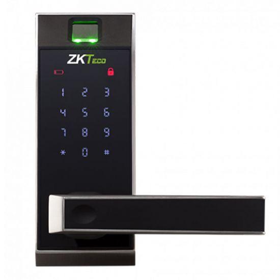Khóa cửa vân tay thông minh ZKTECO AL20DB sử dụng mật khẩu / chìa khóa / Bluetooth, vỏ kim loại, phím số cảm ứng, một chốt cố định và một chốt gài
